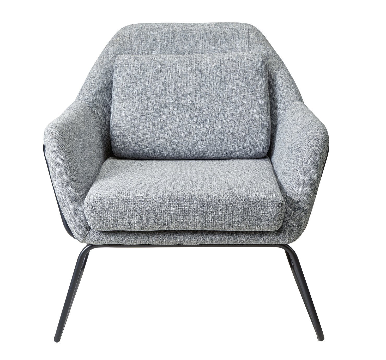 Argos Home Juliette Fabric Accent Chair - Light Grey