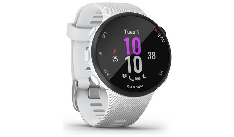 Garmin Forerunner 45S Running Watch - White