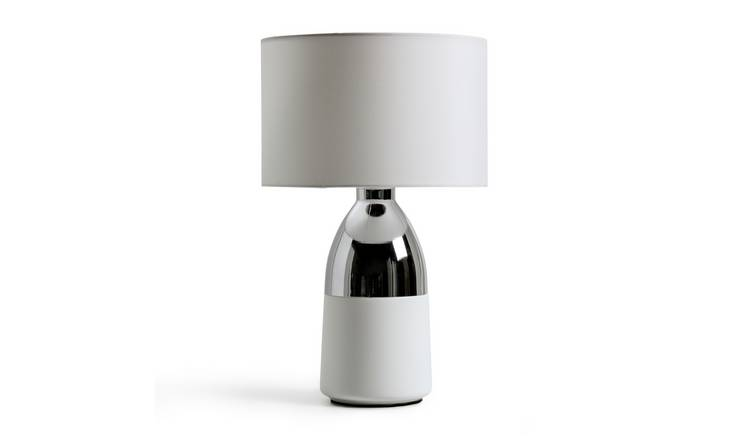 Argos Home Pluto Touch Table Lamp - Chrome & White