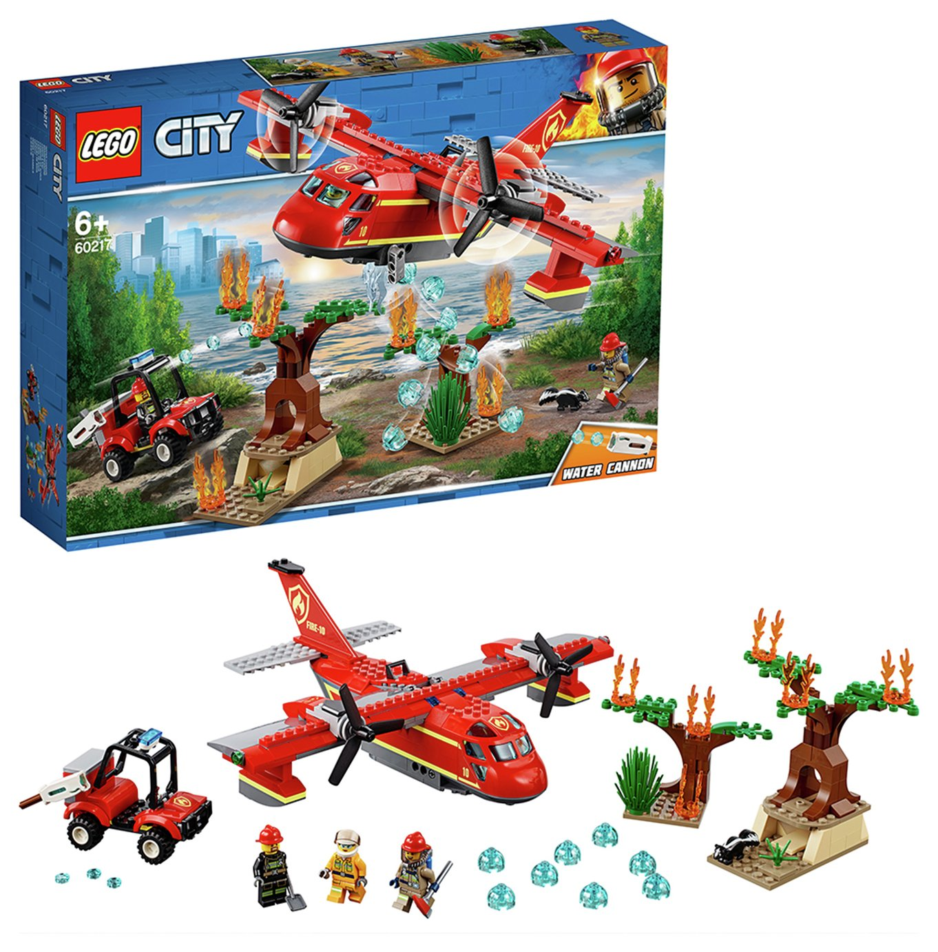 LEGO City Fire Toy Plane and Buggy Playset - 60217