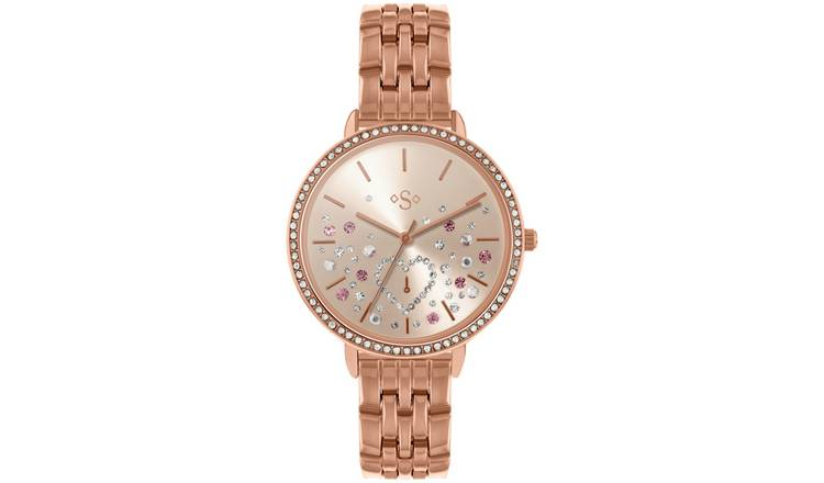 Spirit Ladies Rose Gold Colour Stainless Steel Watch