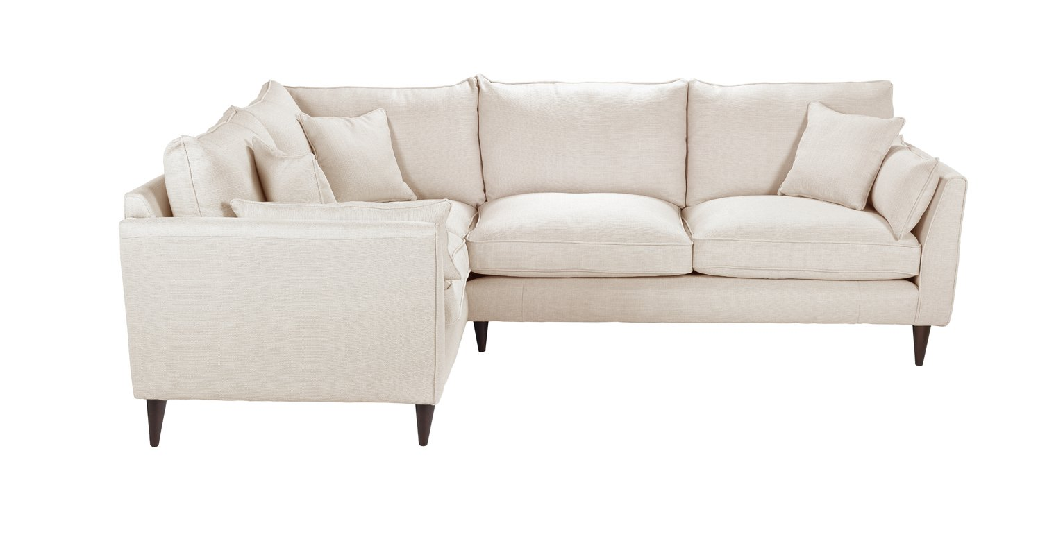 Argos Home Hector Left Corner Fabric Sofa - Natural Linen