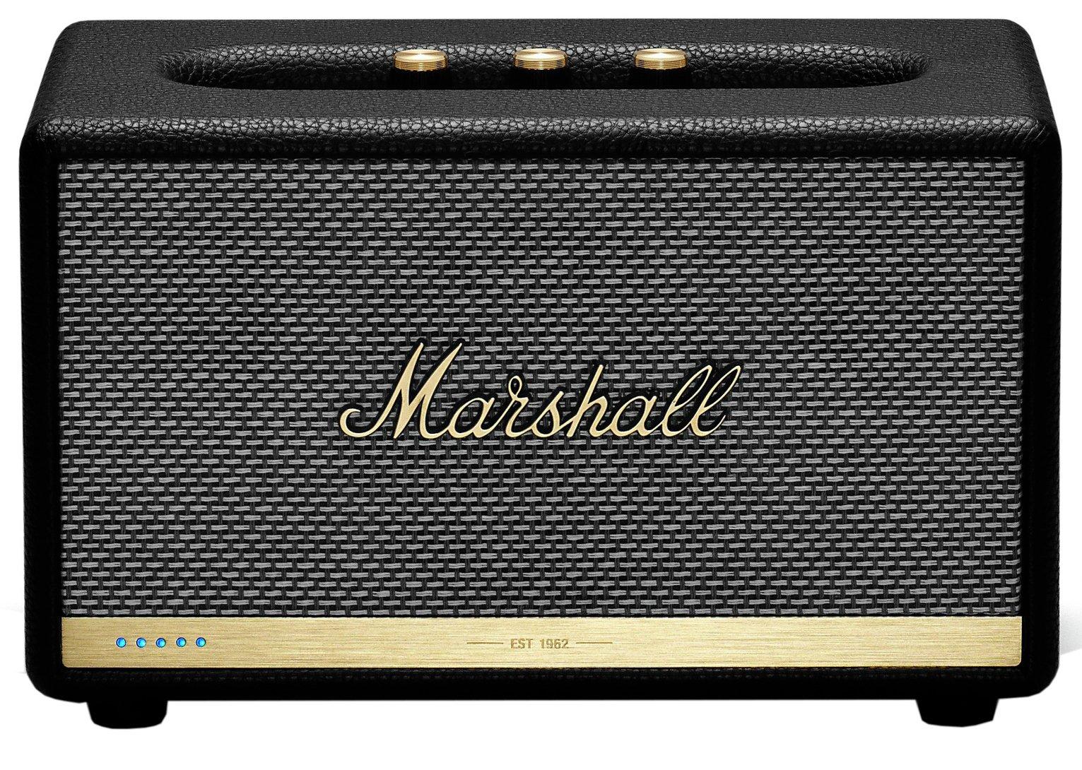 Marshall Acton II Voice Wireless Speaker with Alexa - Black