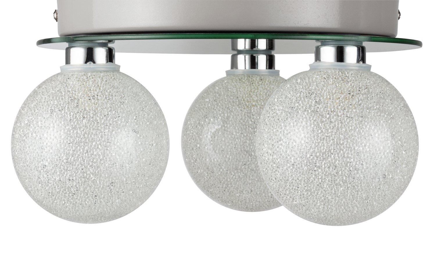 Argos Home Amelie Flush to Ceiling Light - Chrome