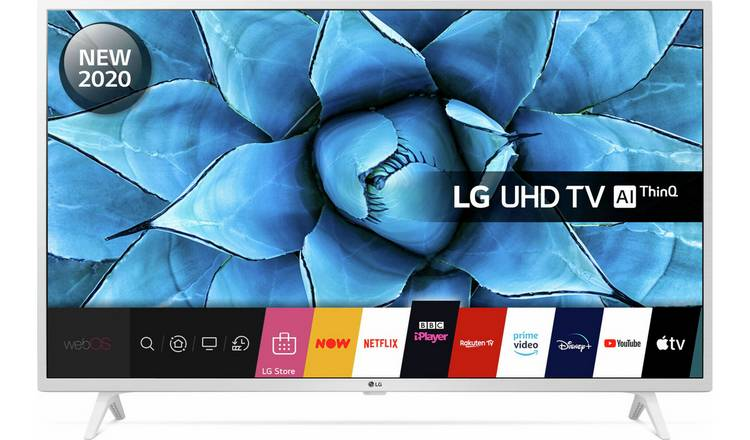 LG 49 Inch 49UN7390 Smart 4K Ultra HD LED TV - White