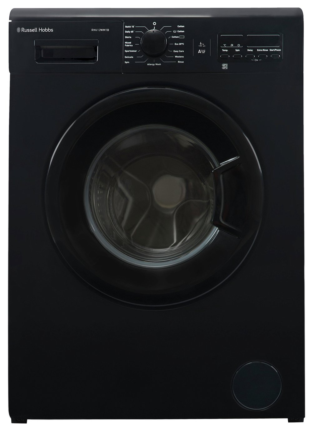 Russell Hobbs 6KG 1200 Spin Washing Machine - Black