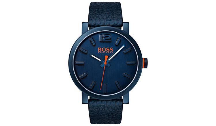 14f72de9e Buy Hugo Boss Orange Blue Dial Leather Strap Watch | Men's ...