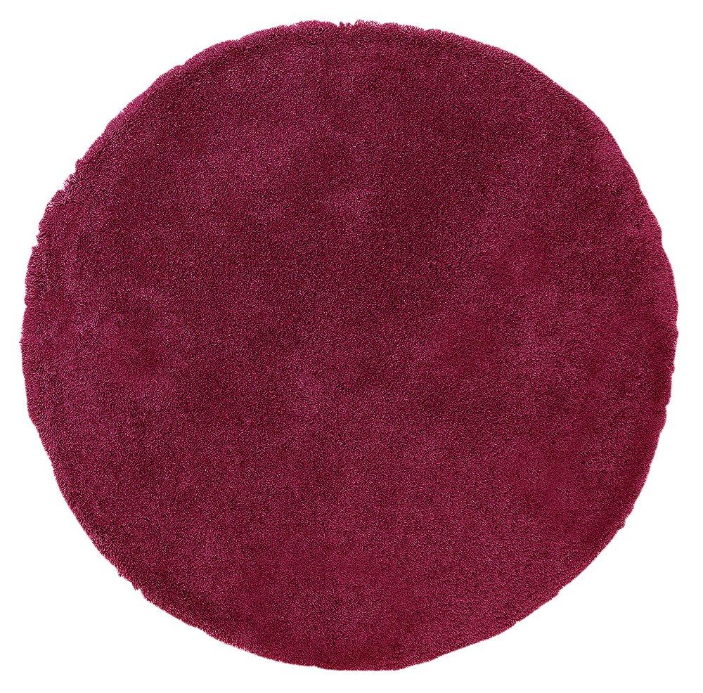 Argos Home Snuggle Shaggy Circle Rug - 100cm - Berry Red