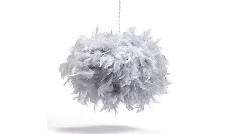 Habitat Feather Pendant Shade - Grey