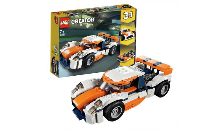 LEGO Creator Sunset Track Racer Set Toy Car & Boat - 31089