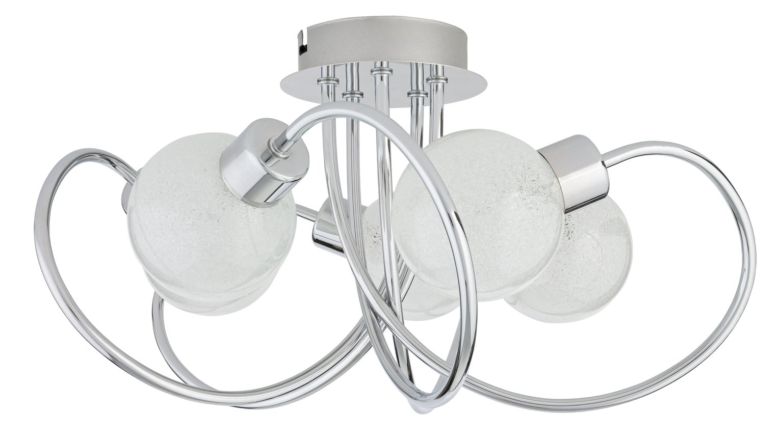 Argos Home Hampton 5 Light Ceiling Light - Chrome