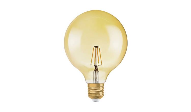 Osram 55W ES LED G125 Vintage Gold Globe Light Bulb