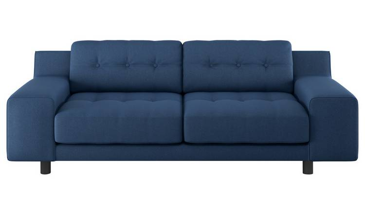 Habitat Hendricks 2 Seater Fabric Sofa - Navy