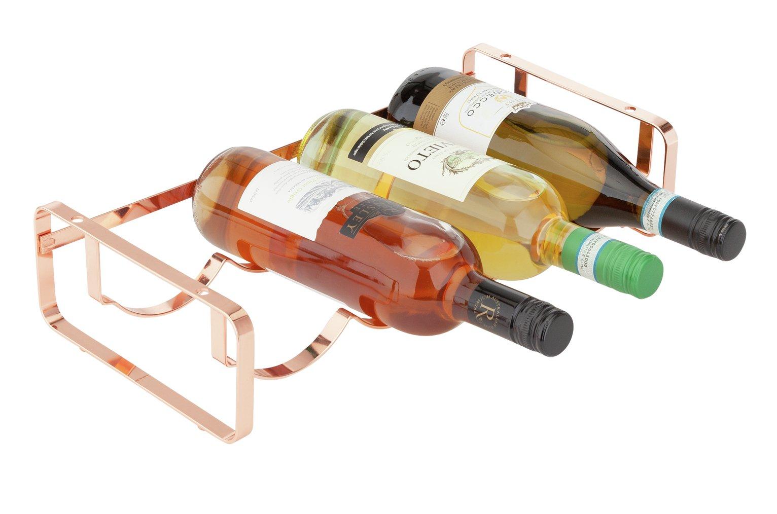 Argos Home Stacking Wine Rack - Rose Gold