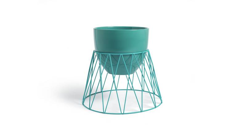 Argos Home Bright Planter with Wire Stand