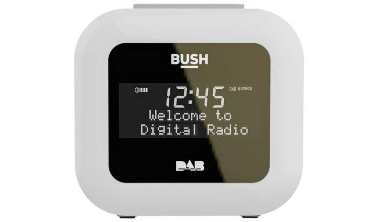 Bush USB DAB Clock Radio - White