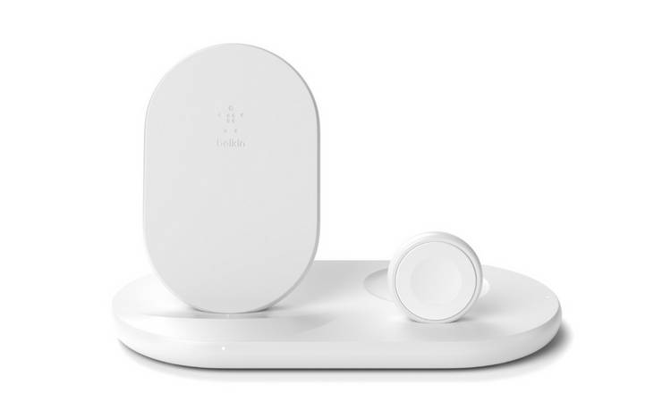 Belkin 3 in 1 Wireless Charger Stand Including Plug - White