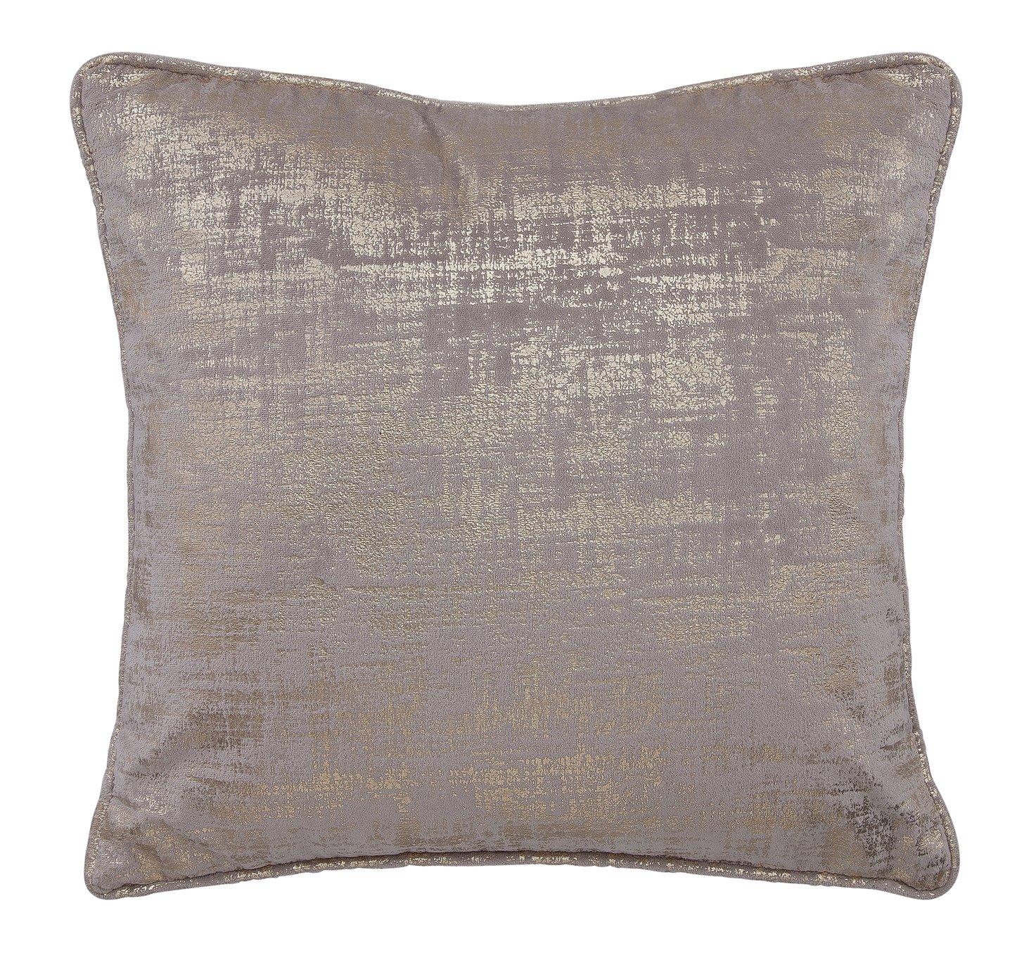 Argos Home Velvet Foil Cushion - Champagne