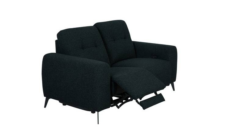 Habitat Ghost 2 Seater Fabric Recliner Sofa - Charcoal