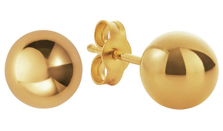 Revere 9ct Gold 6mm Ball Stud Earrings