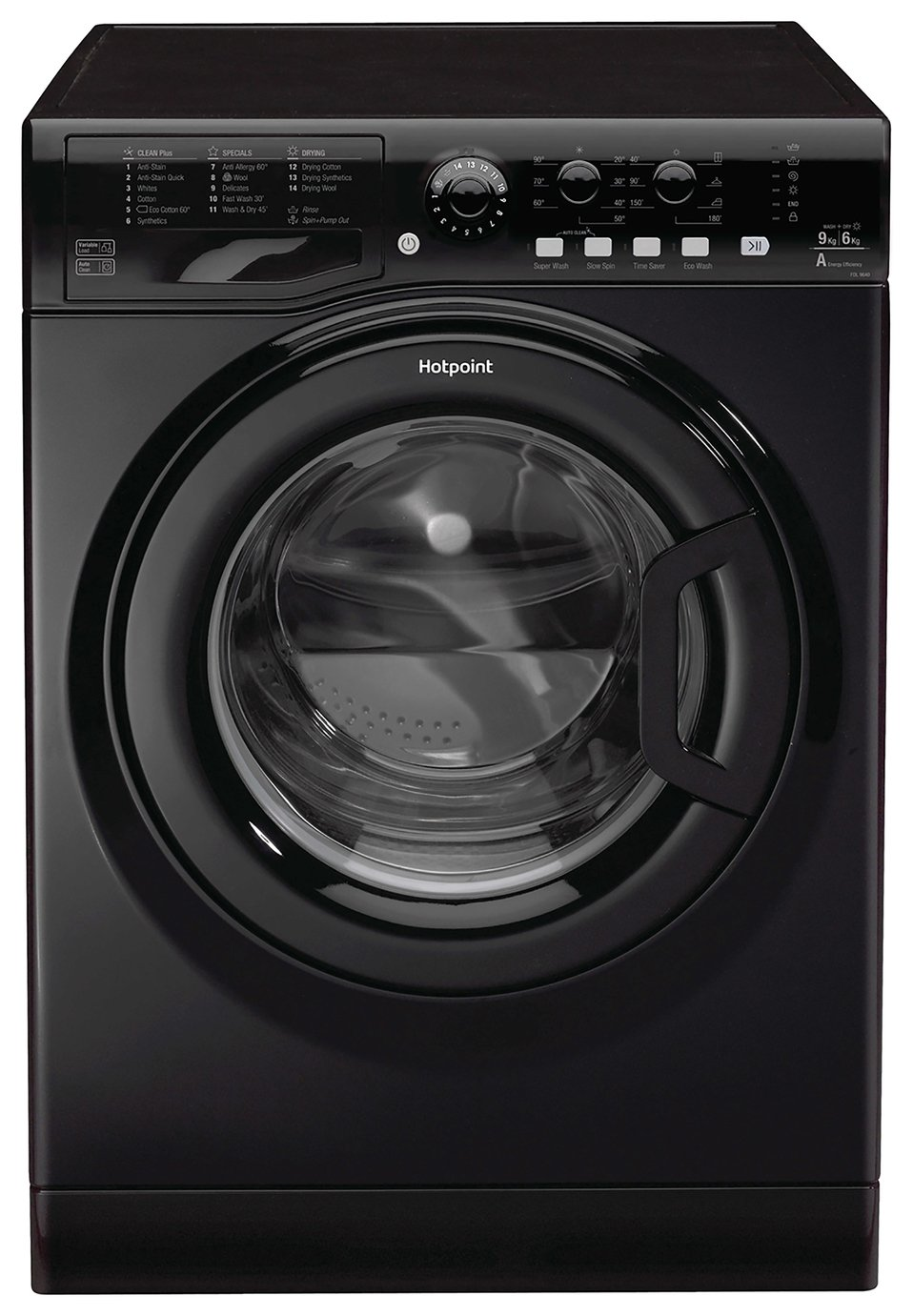 Hotpoint FDL9640KUK 9KG / 6KG 1400 Spin Washer Dryer - Black