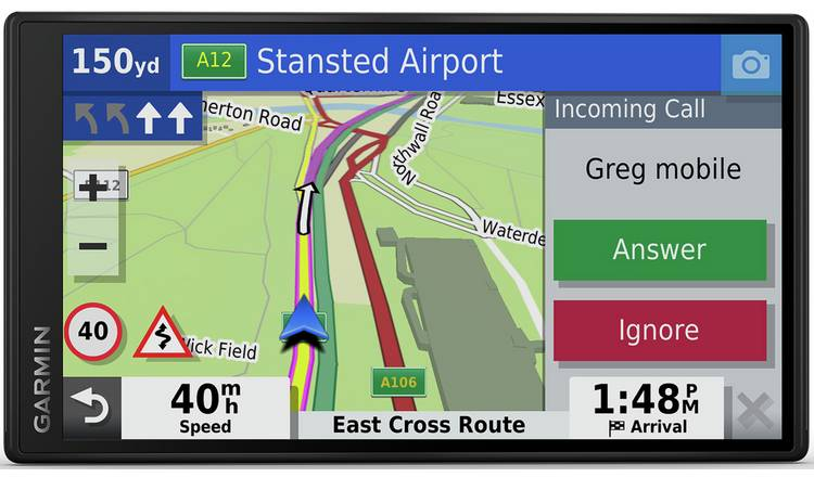 Buy Garmin DriveSmart 55 MT-S 5 5 Inch UK & ROI Traffic Sat Nav | Sat nav |  Argos