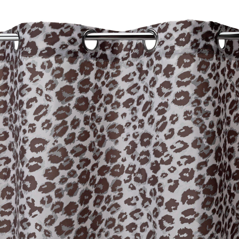 Argos Home Leopard Print Shower Curtain - Grey