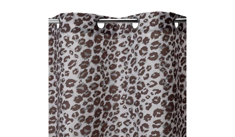 Argos Home Leopard Print Shower Curtain - Grey