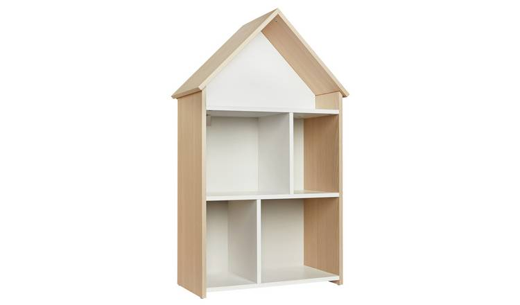 Argos Home Camden White & Acacia House Bookcase