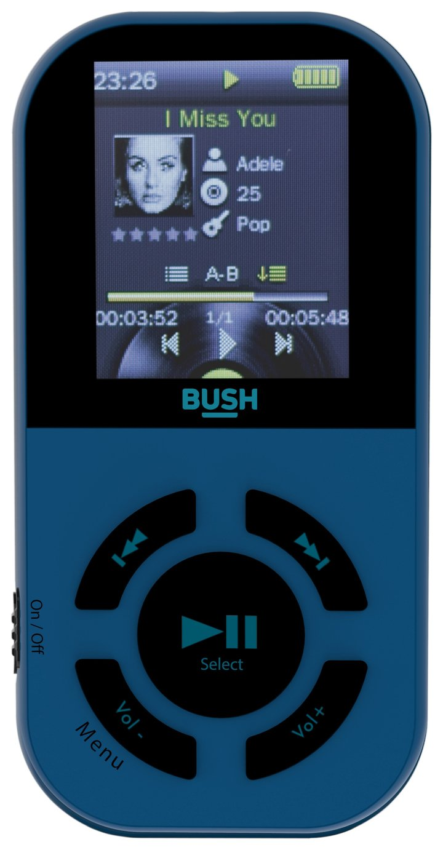 Bush Waterproof 8gb Mp3 Player Black And Blue