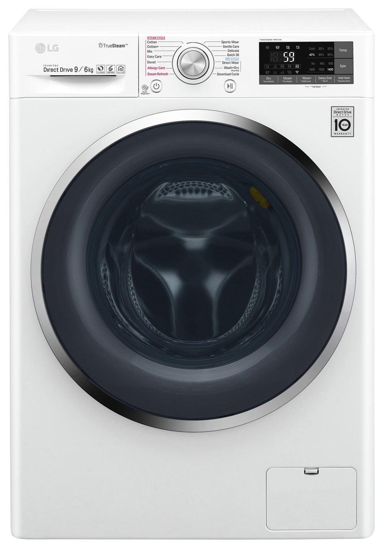 LG F4J8FH2W 9KG / 6KG 1400 Spin Washer Dryer - White