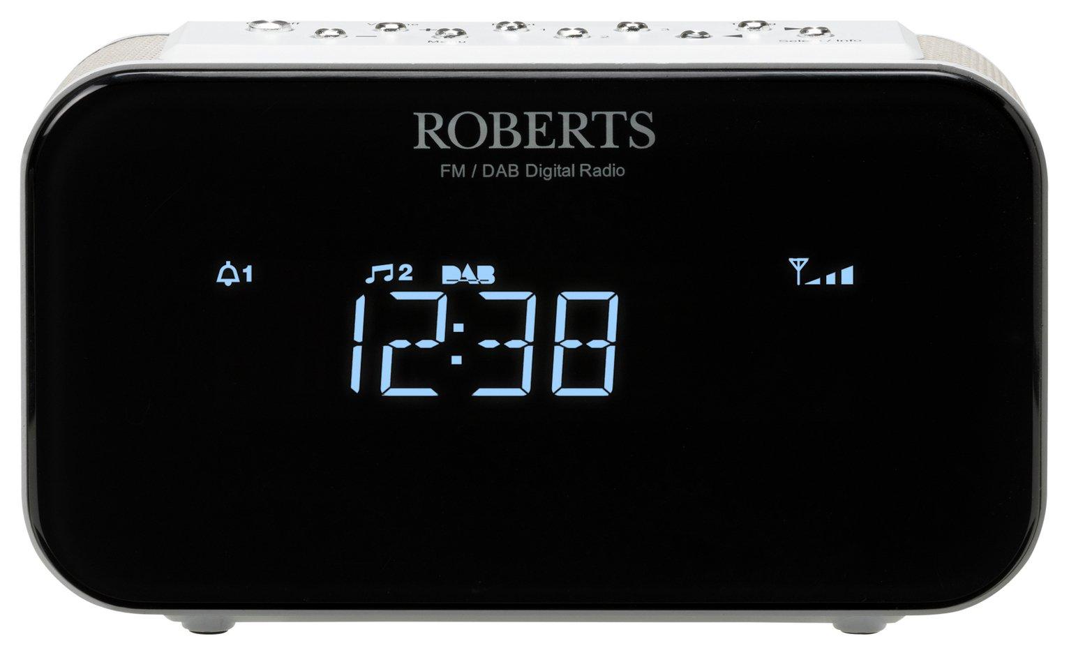 Roberts Radio Ortus 1 DAB+ / FM Alarm Clock Radio - White