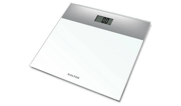 Salter Glass Electronic Scale - White