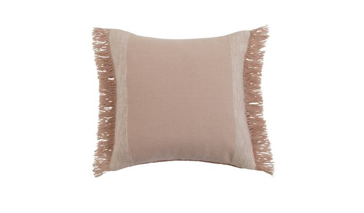 Habitat Handwoven Plain Cushion - Coral