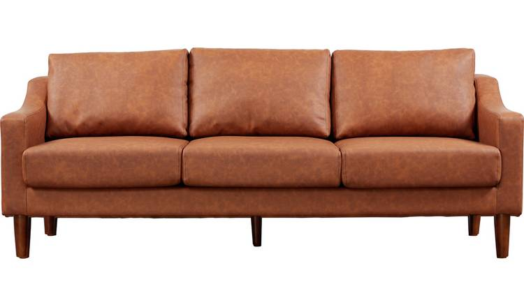 Superb Buy Argos Home Brixton 3 Seater Faux Leather Sofa Tan Sofas Argos Caraccident5 Cool Chair Designs And Ideas Caraccident5Info