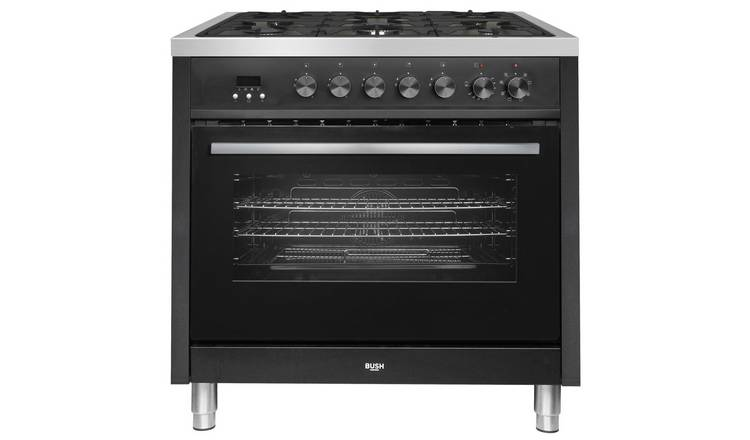 Bush BRC90DFBLK 90cm Dual Fuel Range Cooker - Black