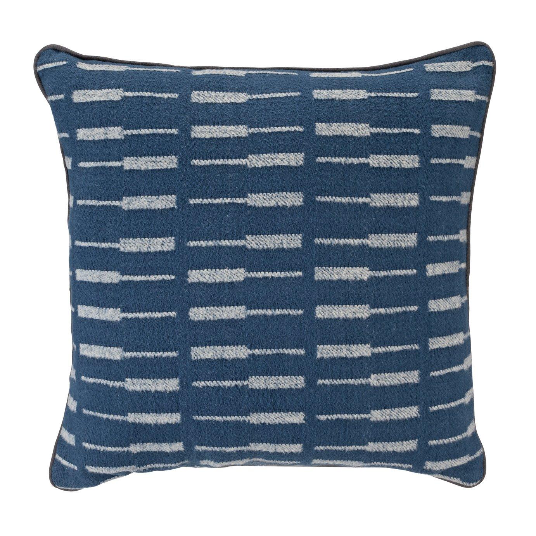 Argos Home Apartment Living Geometric Striped Cushion - Blue