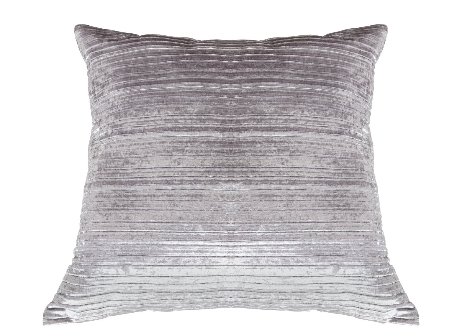 Argos Home Velvet Cushion - Silver