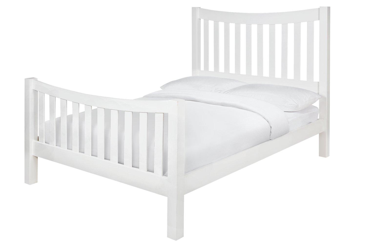 Argos Home Rowan Double Bed Frame - White