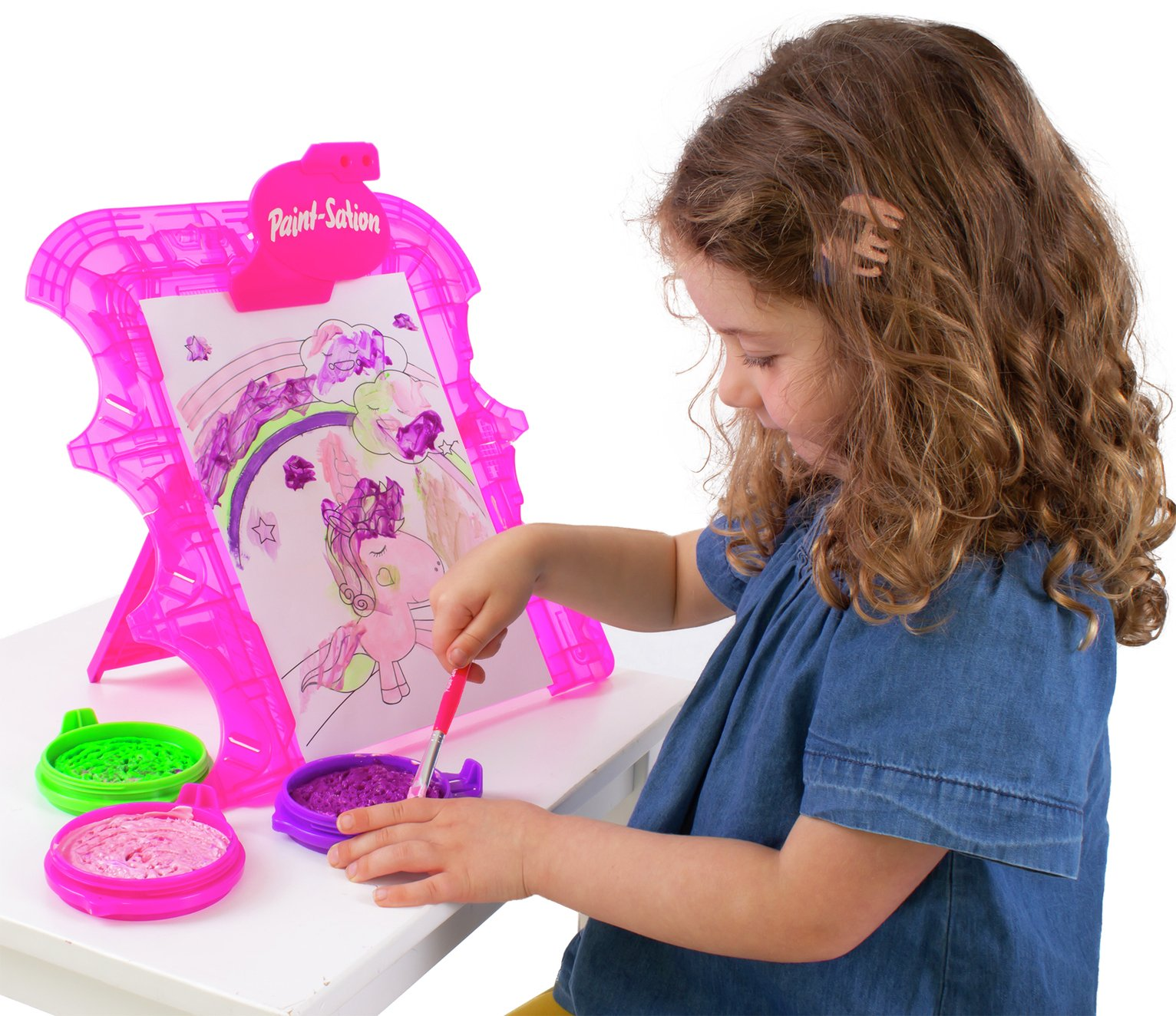 Paint Sation Unicorn Easel Mess Free and Washable