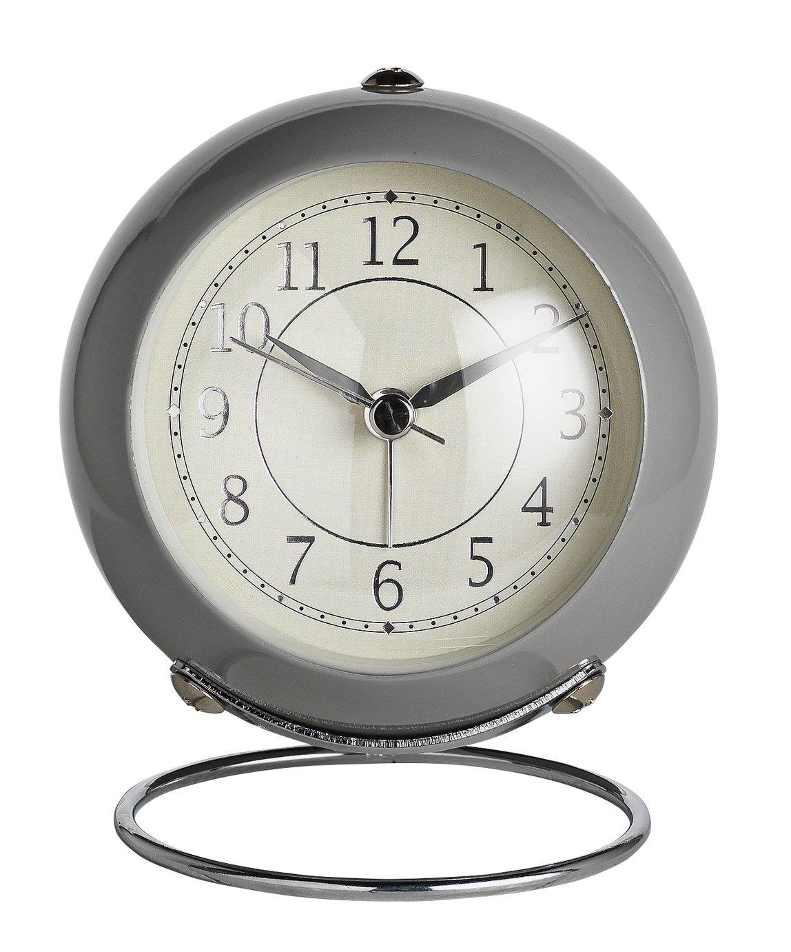Wm. Widdop Alarm Clock - Silver & Grey