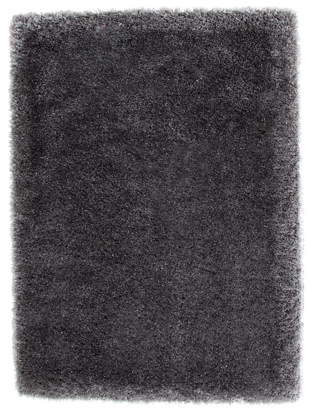 Argos Home Lurex Shaggy Rug - 160x230cm - Grey