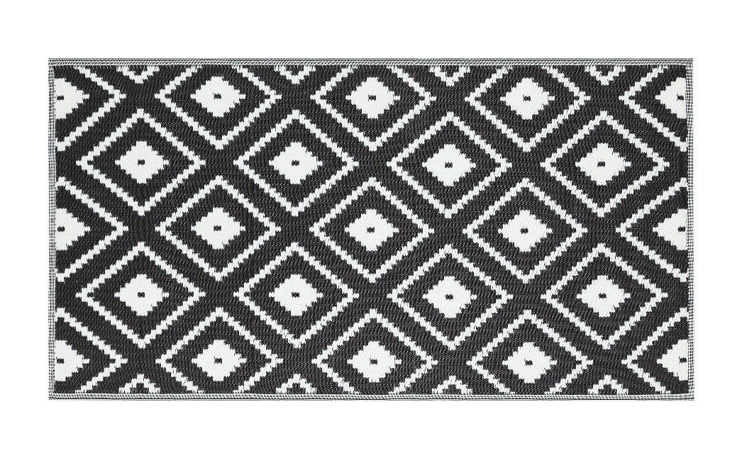 Argos Home Global Monochrome Outdoor Rug 1.7m x 0.9m
