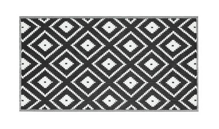 Buy Argos Home Global Monochrome Outdoor Rug 1 7m X 0 9m Outdoor Cushions And Rugs Argos
