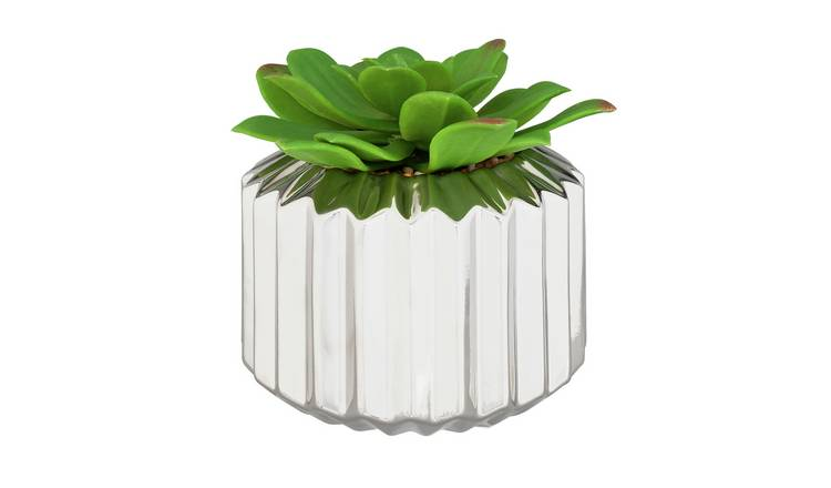 Argos Home Palm Luxe Mirrored Artificial Planter