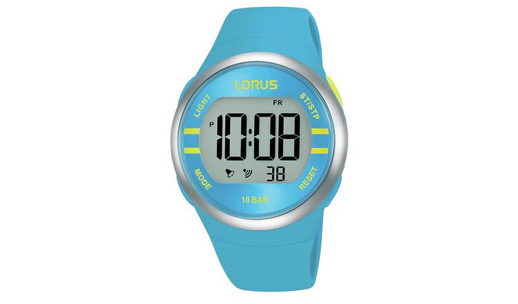 Lorus Digital Bright Blue Strap Watch