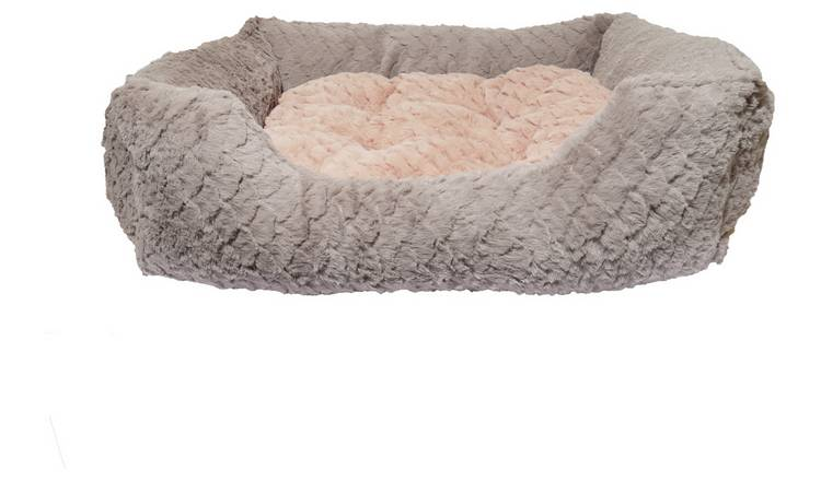 Rosewood Grey and Pink Square Bed - Medium