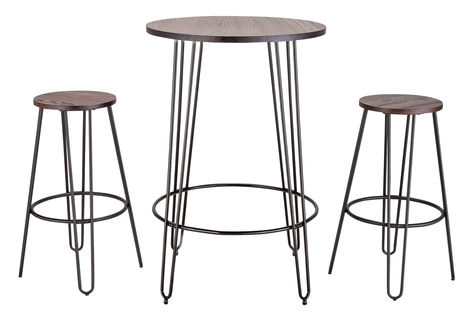 Argos Home Hairpin Bar Table & 2 Stools
