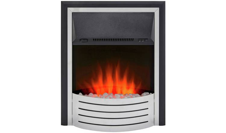 Glen Fulford 2kW Contemporary Inset Fire - Stainless Steel