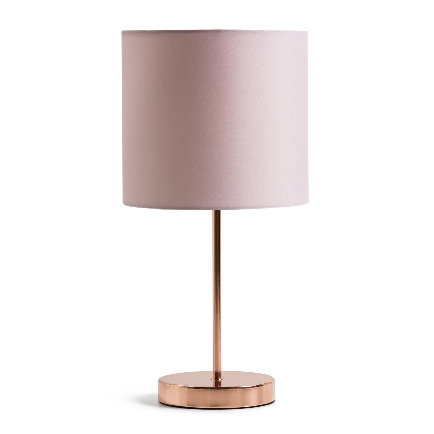 Argos Home Satin Stick Table Lamp - Rose Gold & Blush Pink